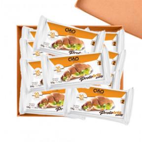 Pack 40 Croissant Salgado CiaoCarb Protobrio Etapa 2 Doce Natural 1 porção 50 g