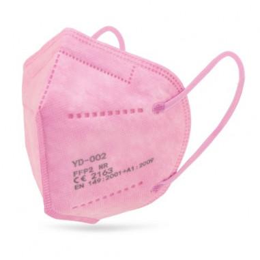 Pink FFP2 mask standard EN149: 2001 CE marked respiratory filtering