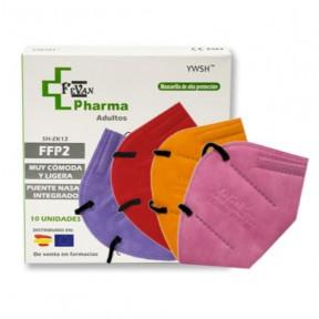10 x Powecom FFP2 mask standard EN149: 2001 CE marked respiratory filtering