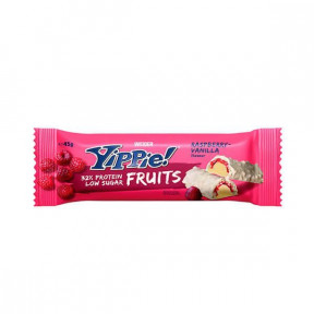 Low Carb Yippie! Fruits Bar Frambuesa-Vainilla Weider 45 g