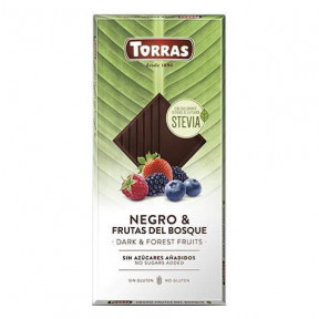 Torras Dark Chocolate with Forest Fruits and Stevia 125g