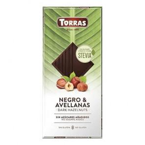 Torras Dark Chocolate with Hazelnuts and Stevia 125g