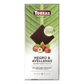 Torras Dark Chocolate with Hazelnuts and Stevia 125g