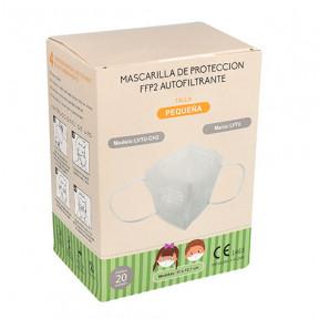 Box of 20 FFP2 kid's masks standard EN149: 2001 CE marked respiratory filtering