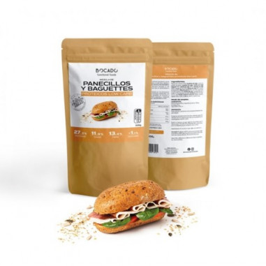 Bocado Functional Foods Low Carb Small Bread and Baguettes Mix 500g