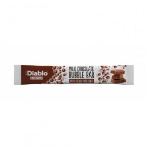 Barre de Chocolat au Lait avec des Bulles Sans Sucre :Diablo 30g
