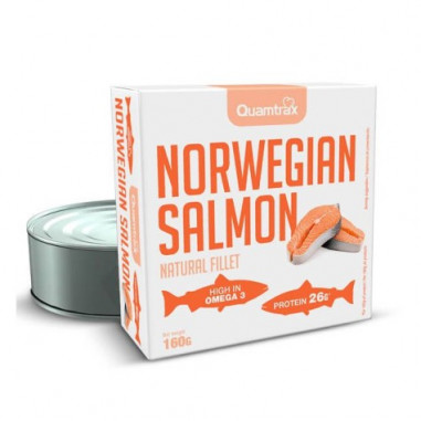 Salmón Noruego al Natural Quamtrax Nutrition 160g