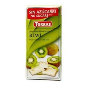 Chocolate Branco com Kiwi Sugar Free Torras 75g
