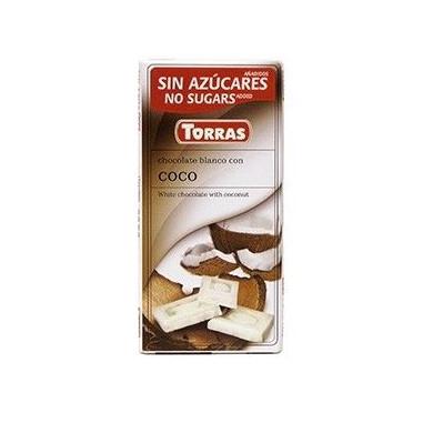 Chocolate Branco com Coco Sugar Free Torras 75g