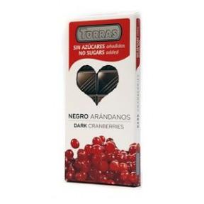 Chocolate Negro con Arándanos Enteros sin Azúcar Torras 150g