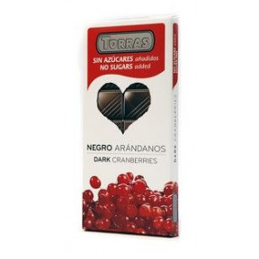 Black Chocolate with Whole Almonds Sugar Free Torras 150g