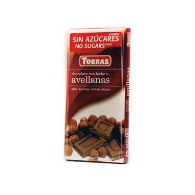 Chocolate com Leite e Avelãs Sugar Free Torras 75g