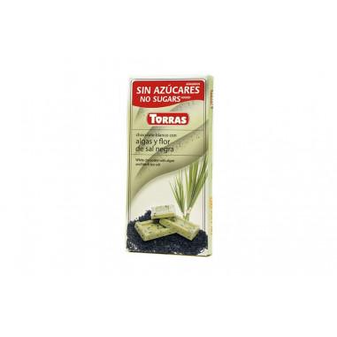 Chocolate Blanco con Algas y Flor de sal Negra Torras 75g
