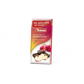 Chocolate Negro con Manzana Sin Azúcar Torras 75 g