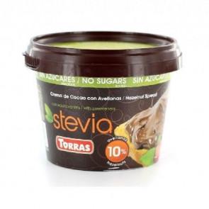 Pâte à Tartiner Cacao avec Noisettes Sucrée à la Stevia Torras 200g