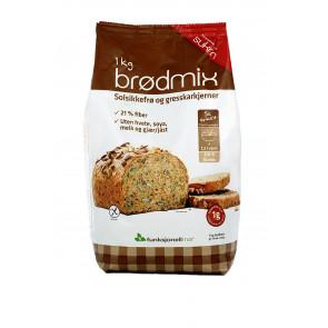 Pronto para Desenvolver Pão de Sementes Sukrin 1 kg (Brodmix)