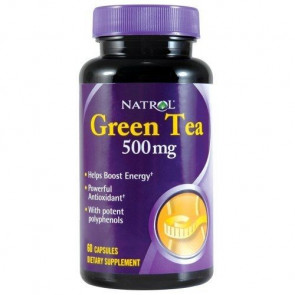 Natrol Green Tea Capsules 500 mg 60 Capsules