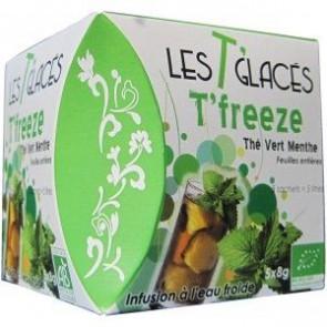 Cha Gelado T'Freeze Chá verde + Hortelã 40 g 5 saquetas