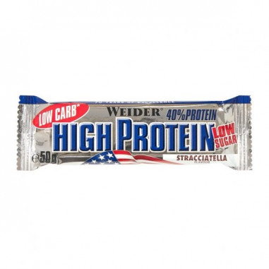 40% Low Carb High Protein Bar Weider Stracciatella Flavour 50 g
