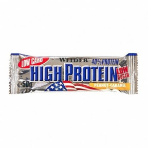 40% Low Carb High Protein Bar Weider Cacahuetes-Caramelo 50 g