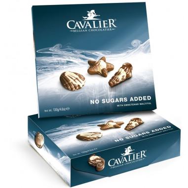Chocolates Belga variedade Oceano de 130 g sem açúcar de Cavalier