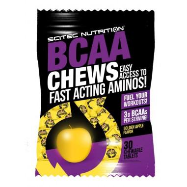 Caramelos masticables BCAA Chews Manzana de Scitec Nutrition
