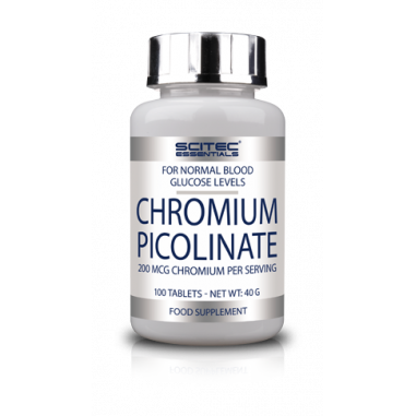 Picolinate de chrome de Scitec Nutrition 100 comprimés