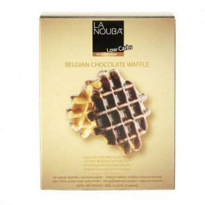 Waffles Belgas com Chocolate Low Carb LaNouba 180 g