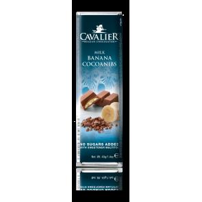 Barra de chocolate de leite Cavalier Banana e Cocoa 40 g