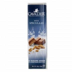 Cavalier milk chocolate Bar with speculaas 42 g