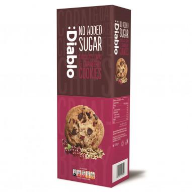 Cookies con Pepitas de Chocolate y arándanos rojos sin azúcar :Diablo 135g