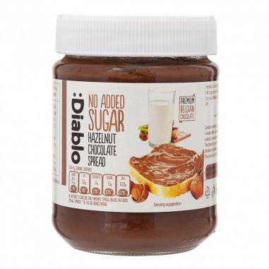 Chocolate and hazelnuts cream no added sugar :Diablo 350 g
