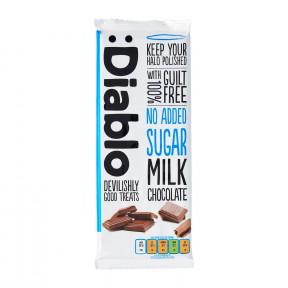 Barra de chocolate com leite sem adição de açúcar :Diablo 85 g