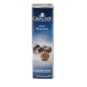 Barra de chocolate preto Cavalier com Pralina 42 g