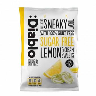 Caramelos sabor limón y crema sin azúcar :Diablo 75 g