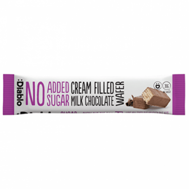 Chocolate filled milk wafer no added sugar :Diablo 30 g