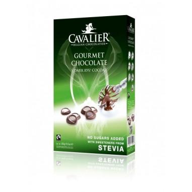 Gotas de Chocolate Preto Belga 85% com Stevia Cavalier 300 g