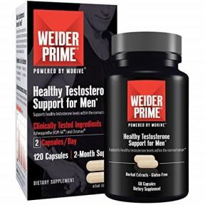 Weider Prime Support de Testostérone pour Homme 60 Capsules