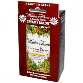 Walden Farms Creamy Bacon Dressing 6 packets of 28 g
