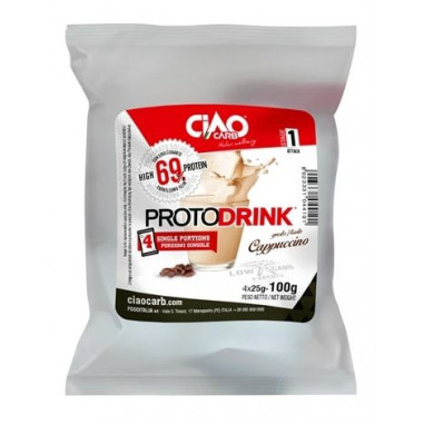 Protodrink Cappuccino Taste CiaoCarb Stage 1, 100 g (4x25 g)