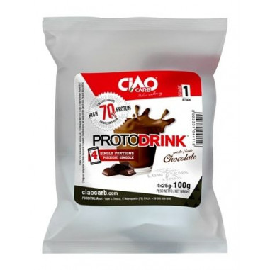 Protodrink Chocolate Taste CiaoCarb Stage 1, 100 g (4x25 g)