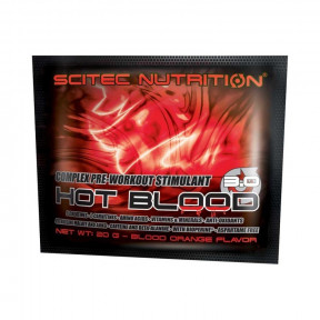 Hot Blood 3.0 pré-treino sabor Guarana Scitec Nutrition Monodose 20 g