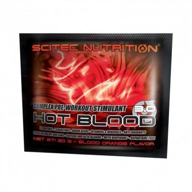 Hot Blood 3.0 pré-treino sabor Guarana Scitec Nutrition Monodose 20 g