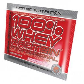 100% Whey Professional Scitec Nutrition Morango com Chocolate Branco Monodose 30 g