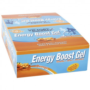 Boîte 24 x 42g Energy Boost Gel Orange Victory Endurance