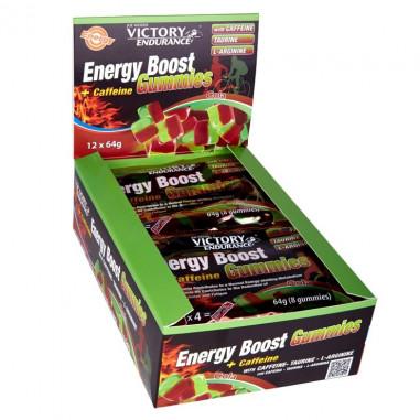 Caja 12 x 64g Energy Boost + Cafeína Gominolas Victory Endurance Cola