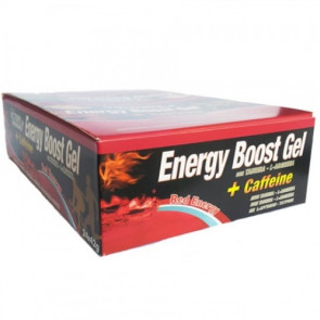 Boîte 24 x 42g Energy Boost Gel + Caféine Red Energy Victory Endurance