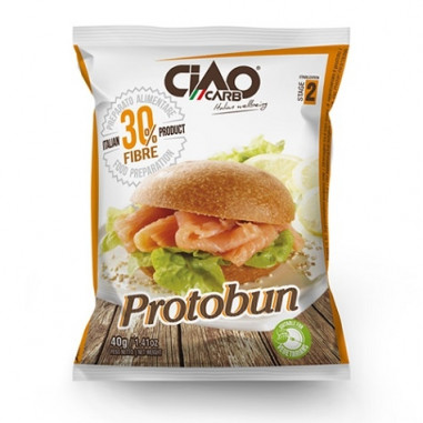 Bollo de Pan CiaoCarb Protobun Fase 2 Natural 1 unidad 40 g