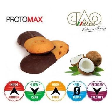 Pack de 10 Biscoitos CiaoCarb Protomax Cocochoc Etapa 1 Coco - Chocolate