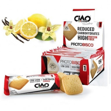 Pack de 10 Galletas CiaoCarb Protobisco Fase 1 Vainilla Limón